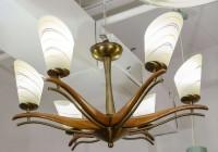 mid century modern wood chandelier