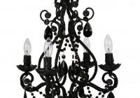 mini black crystal chandelier
