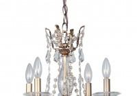 Mini Bronze Crystal Chandelier