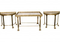 Mirror Coffee Table Set