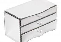 Mirror Jewelry Box With Lock
