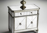 Mirrored Console Table With Shelf