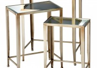 Mirrored Glass Side Tables
