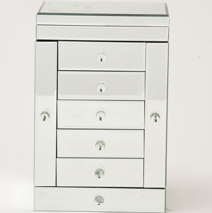 Permalink to Mirrored Jewelry Box With Drawers