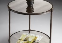 Mirrored Side Table Round
