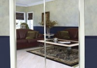 mirrored sliding closet doors menards