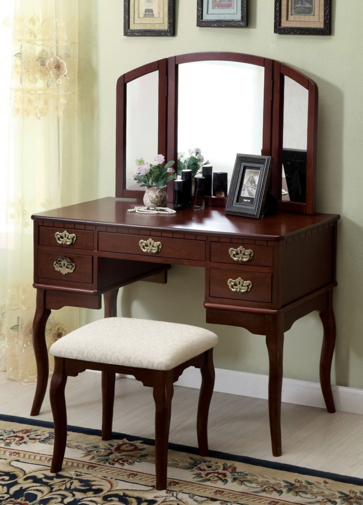 Permalink to Mirrored Vanity Table With Drawers