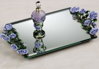 Mirrored Vanity Trays Perfume