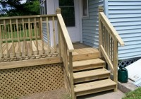 Mobile Home Deck Stairs
