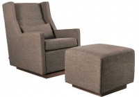 Modern Armchair With Ottoman