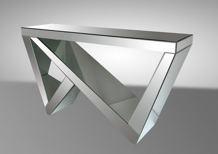 Permalink to Modern Mirrored Console Table