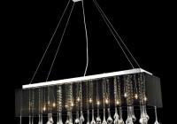 modern rectangular glass chandelier