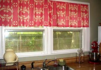 Modern Red Kitchen Curtains
