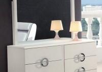 Modern White Dresser With Mirror