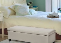 Modern White Storage Bench