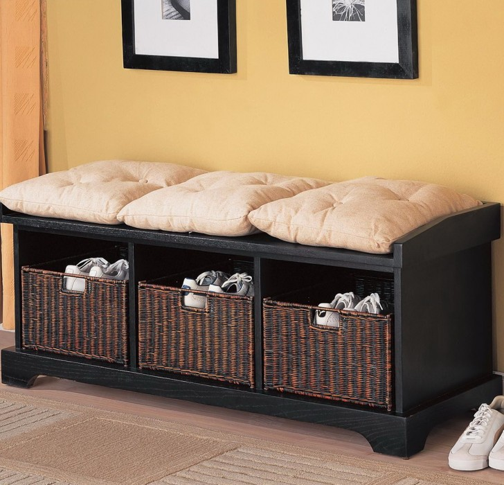 Permalink to Mudroom Storage Bench With Baskets