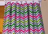 Multi Color Chevron Curtains