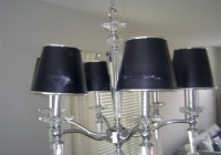 Multiple Lamp Shade Chandelier