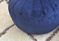 Navy Blue Ottoman Slipcover