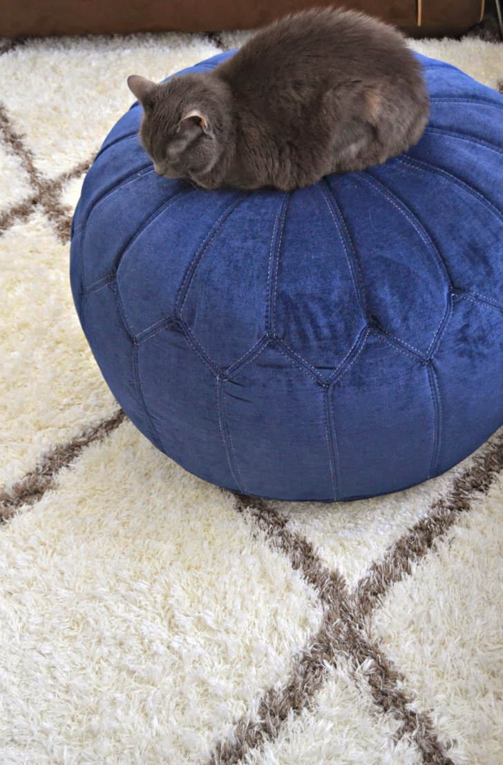 Permalink to Navy Blue Ottoman Slipcover
