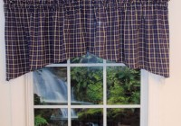 Navy Blue Plaid Curtains