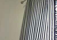navy striped curtain panels