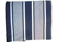 Navy Ticking Stripe Curtains