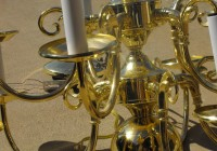 Old Brass Chandelier Makeover