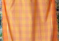 Orange Plaid Kitchen Curtains