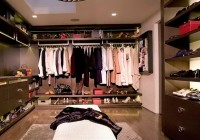 organizing a small closet with lots of clothes