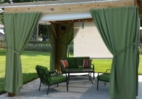 Outdoor Curtain Rod With Post Set