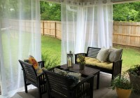 outdoor curtain rods diy