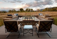 Outdoor Deck With Fire Pit