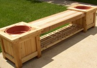 Outdoor Storage Bench With Planters