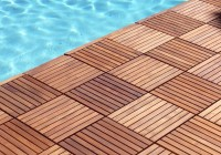 Outdoor Wooden Deck Tiles