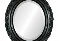 Oval Black Framed Mirror