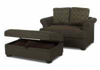 Oversized Armchair With Ottoman