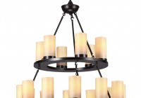 Pillar Candle Chandelier Round