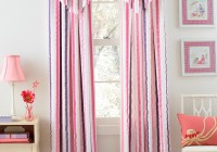 Pink And Blue Striped Curtains