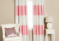 pink and white blackout curtains