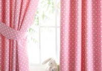 Pink And White Polka Dot Curtains