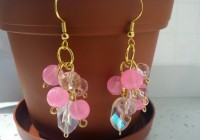 Pink Crystal Chandelier Earrings