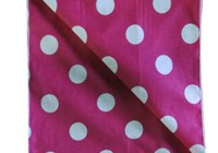 Pink Polka Dot Curtains 90 Drop
