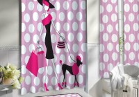 Pink Polka Dot Shower Curtains