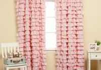 Pink Ruffle Blackout Curtains