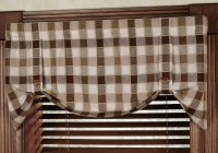 Plaid Kitchen Curtains Valances