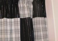 Plaid Shower Curtains Fabric
