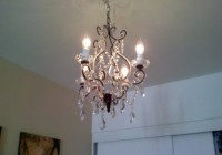 Plug In Chandelier In A Bedroom