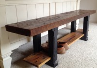 Reclaimed Wood Bench Table