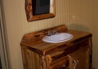 Reclaimed Wood Mirror Bathroom